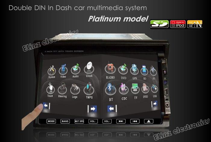 7 inch LCD IN DASH CAR GPS DVD PLAYER