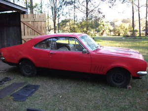 Red 1970 Holden Monaro HG GTS