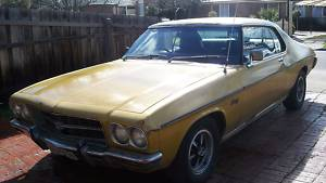 Yellow 1973 Holden Monaro HQ LS COUPE
