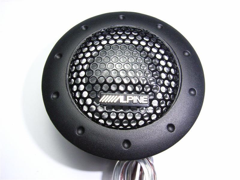 Alpine Tweeter Speaker 180W & Crossover Cable