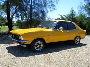Yellow 1973 Holden Torana GTR-XU1 Bathurst